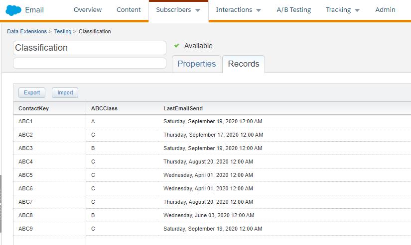 ABC classes in Salesforce Marketing Cloud