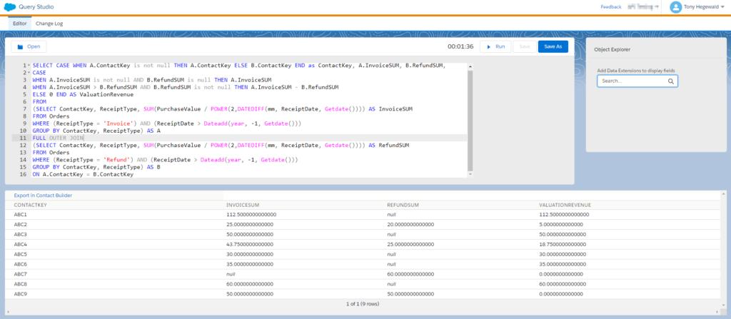 ABC Classification SQL