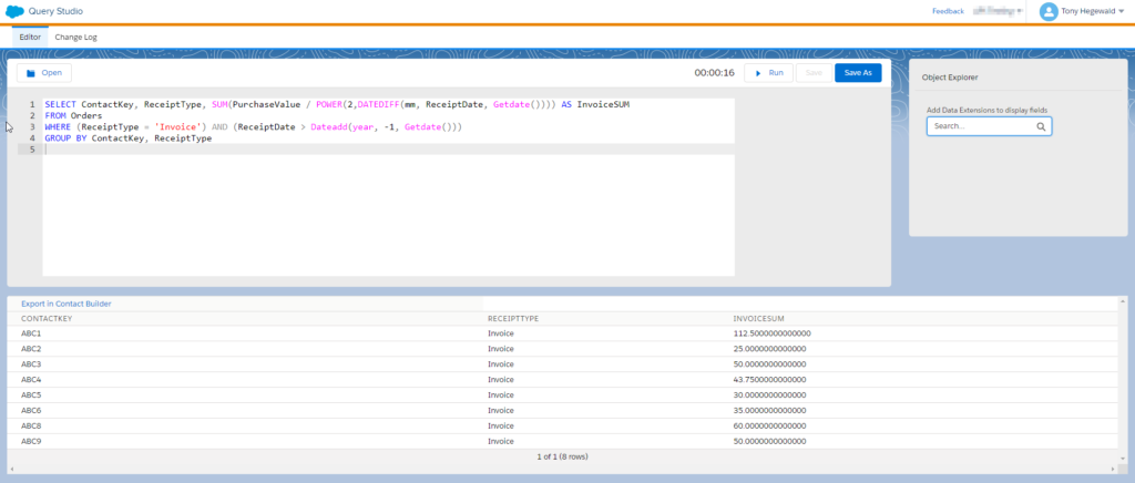 SQL for Invoice calculation